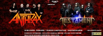 Especial: Anthrax y Testament en Chile
