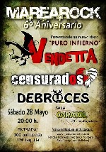 Vendetta + Censurados + Debruces en Madrid (Mayo de 2011)
