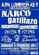 Narco + Gatillazo + Segismundo Toxicomano + Envidia Kotxina + Manolo Kabezabolo + Hora Zulu + Escuela de Odio en Tobarra (Febrero de 2011)