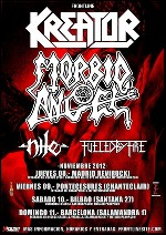 Kreator + Morbid Angel + Nile + Fueled by Fire en Madrid (Noviembre de 2012)