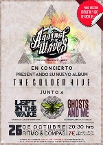 Against the Waves + Left in the Wake + Ghosts and Me en Madrid (Octubre de 2012)