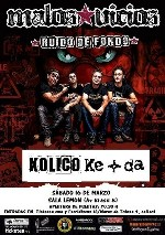 Malos Vicios + Kolico + Ke+Da en Madrid (Marzo de 2013)