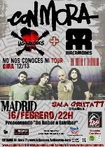 Con Mora + Las Madres + Macarrones en Madrid (Febrero de 2013)