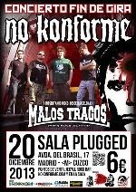 No Konforme + Malos Tragos en Madrid (Diciembre de 2013)