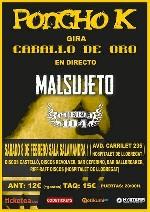 Poncho K + Malsujeto + Puerta 104 en Hospitalet de Llobregat (L') (Feb/2014)