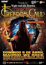 Freedom Call + Dragonhammer + In Vain en Madrid (Abr/2014)
