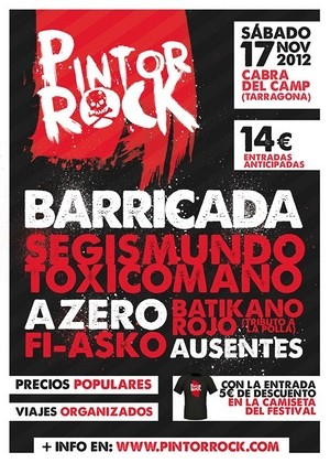 Ya disponibles las entradas del Pintor Rock