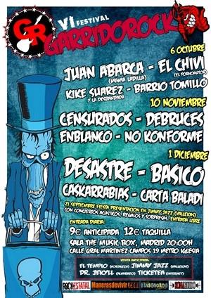 Cartel definitivo del GarridoRock 2012