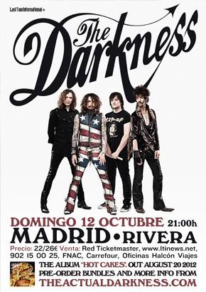 Se retrasa el concierto de The Darkness en Madrid