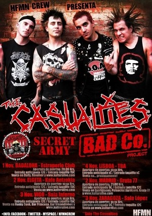 The Casualties: problemas para llegar