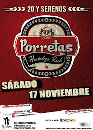 Aplazado el concierto de Porretas en Madrid