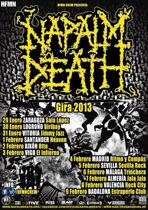 Extensa gira estatal de Napalm Death