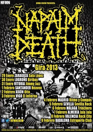 Datos de la gira de Napalm Death