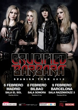 Crucified Barbara: Spanish Tour 2013