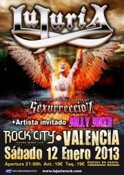 Aplazado el concierto de Lujuria en Valencia