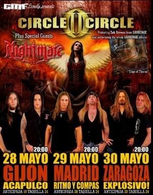 Circle II Circle vienen en mayo