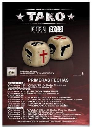 Tako aplaza sus conciertos de Toledo y Albacete