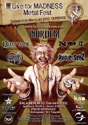 Datos del III Live For Madness Metal Fest