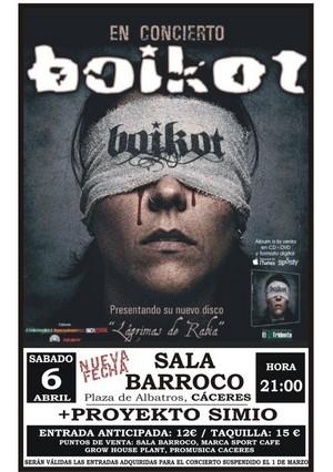 Nueva fecha de Boikot en Cáceres