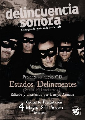 Delincuencia Sonora presentará disco en mayo