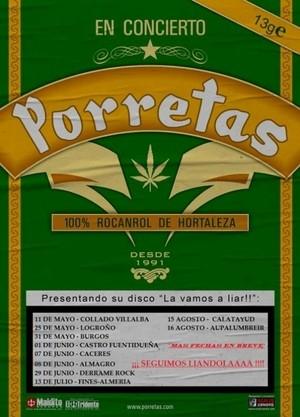 Más fechas en la gira de Porretas