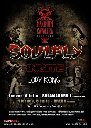 Soulfly vuelven en julio