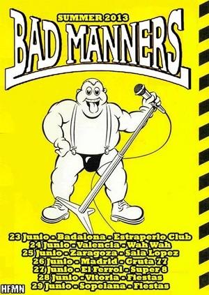 Gira estatal de Bad Manners en junio