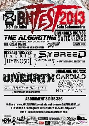 Cartel definitivo del Brutal Noise Fest