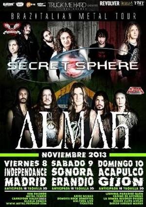 Almah y Secret Sphere vienen en noviembre