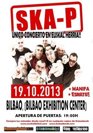 Ska-P: cambio de fecha y sala en Bilbao
