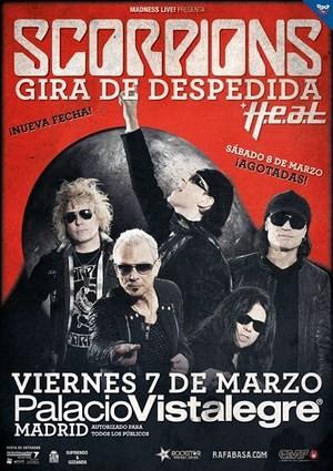 Scorpions: nueva fecha en Madrid