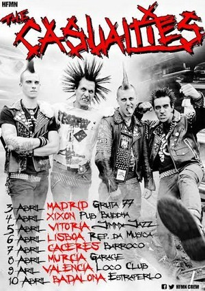 The Casualties: gira estatal en abril