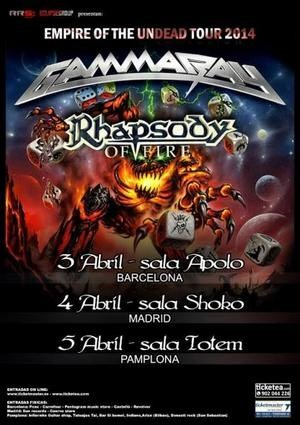 Gira conjunta de Gamma Ray y Rhapsody of Fire