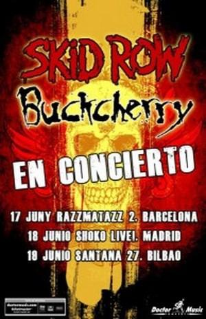Skid Row y Buckcherry vienen en junio