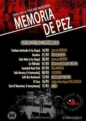 Memoria de Pez: nuevas fechas