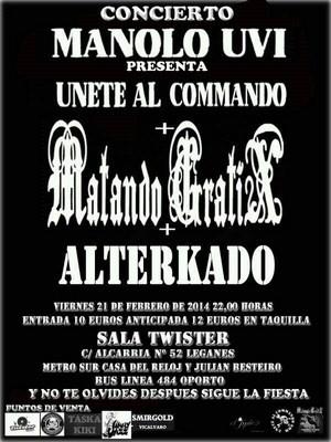 Sorteamos entradas para Matando Gratix, Manolo UVI y Alterkado