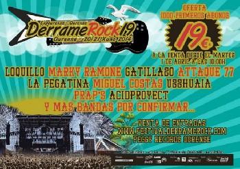 Más confirmados para el Derrame Rock 2014