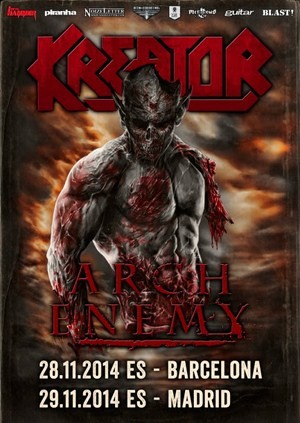 Kreator acompañarán a Arch Enemy