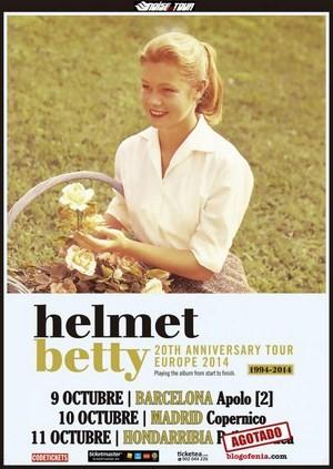 Helmet: gira 20 aniversario de Betty