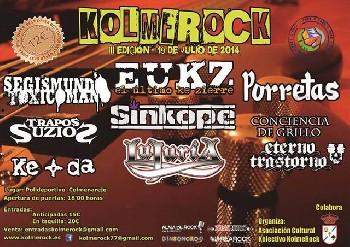 Horarios del Kolme Rock 2014